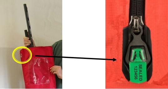 borsa per sequestro fucili chiusura