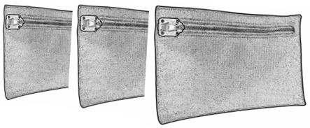 borse porta valori misure