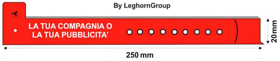braccialetti di riconoscimento in plastica disegno tecnico