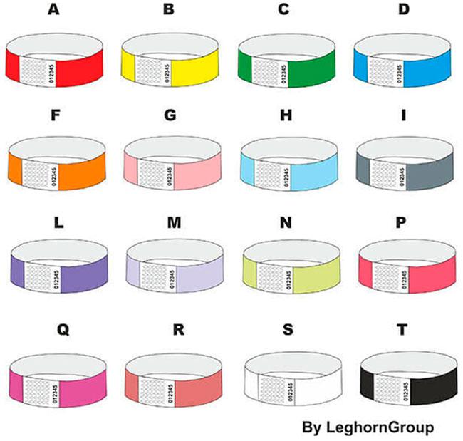 braccialetti identificativi in tyvek colori personalizzazioni