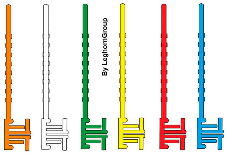 chiusura sigilli sicurezza plastica postal block colori