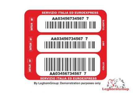 etichette adesive personalizzate con codice a barre