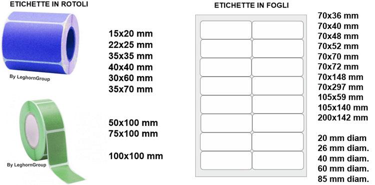 etichette adesive personalizzate codice barre misure