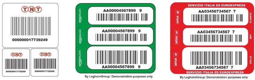 etichette codice a barre per corrieri