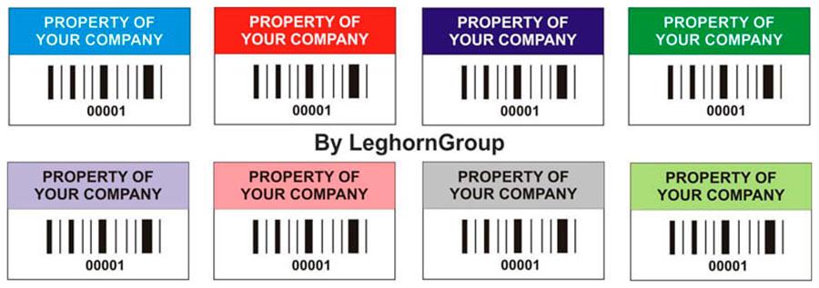etichette identificazione beni colori personalizzazioni