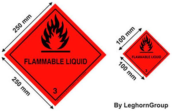 etichette sicurezza merci pericolose adr imo disegno tecnico