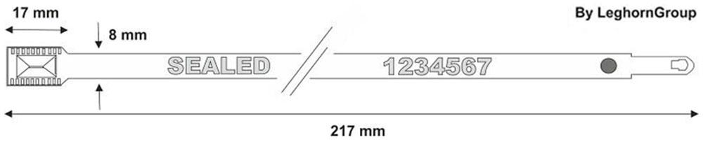 fascette metalliche autobloccanti metal seal disegno tecnico