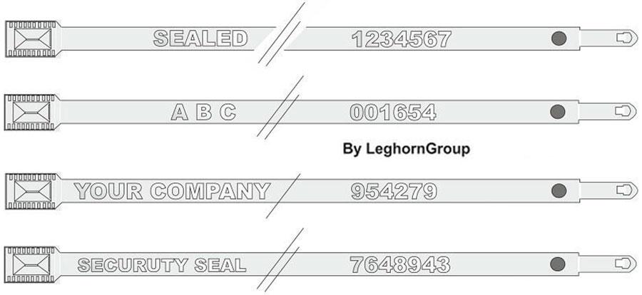 fascette metalliche autobloccanti metal seal personalizzazioni