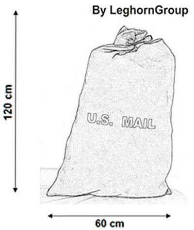 sacco postale matera disegno tecnico