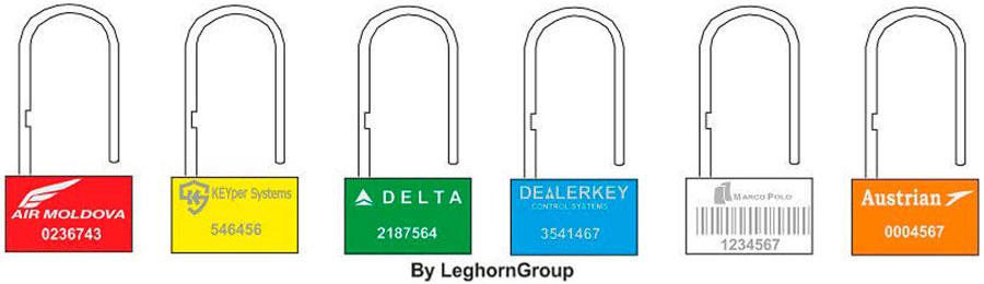 sigilli a lucchetto padlock seal 160 4 colori personalizzazioni