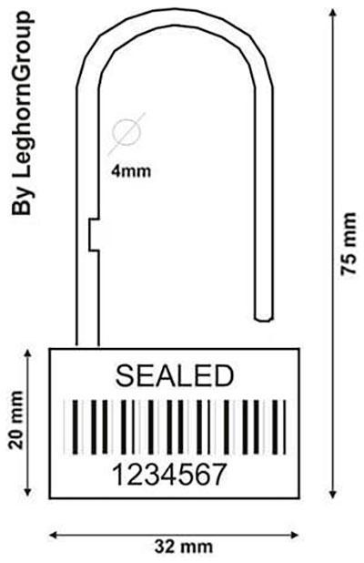 sigilli a lucchetto padlock seal 160 4 disegno tecnico
