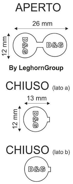 sigilli alluminio fashion seal disegno tecnico