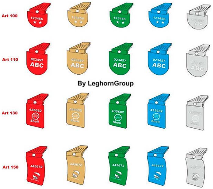 sigilli alluminio raffinerie dogane cralu seal colori personalizzazione