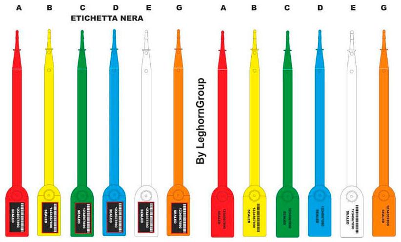 sigilli autobloccanti in plastica aello seal colori personalizzazioni