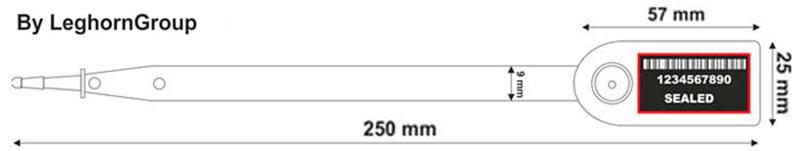 sigilli autobloccanti in plastica aello seal disegno tecnico