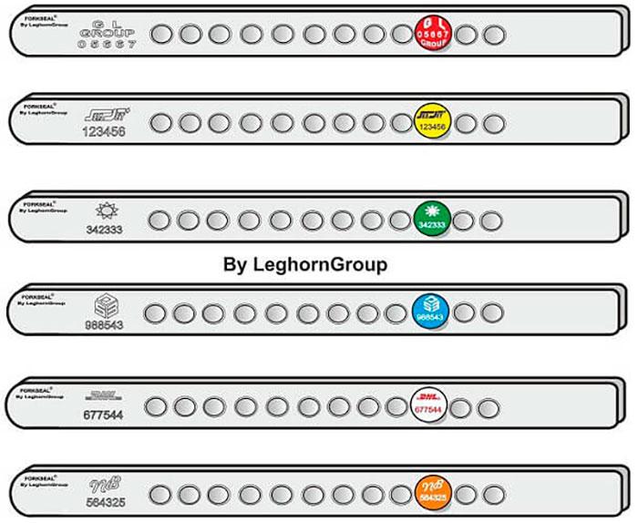 sigilli barra fork seal c colori personalizzazioni