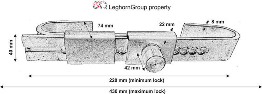sigilli barra per camion cargo door lock disegno tecnico