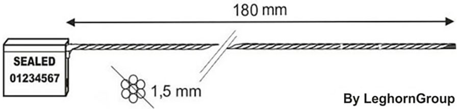 sigilli cavo 1.5x180 mm disegno tecnico