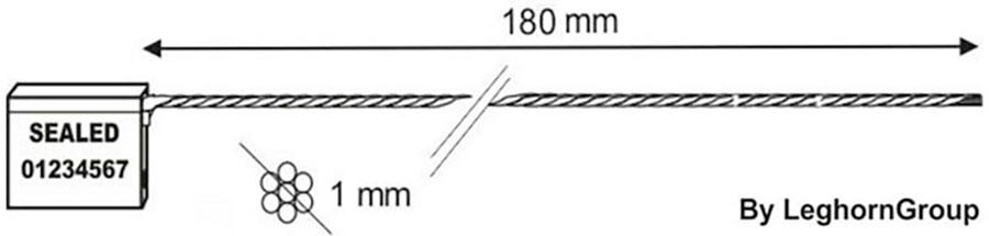 sigilli cavo 1x180 mm disegno tecnico
