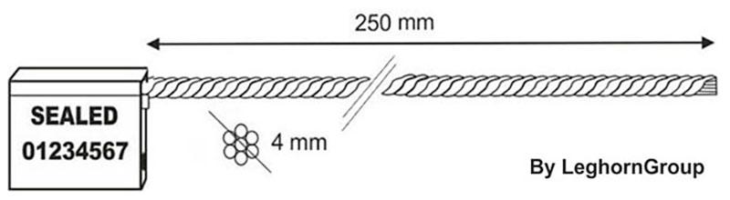 sigilli cavo 4x250 mm disegno tecnico
