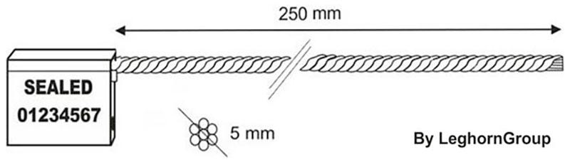 sigilli cavo 5×250 mm disegno tecnico