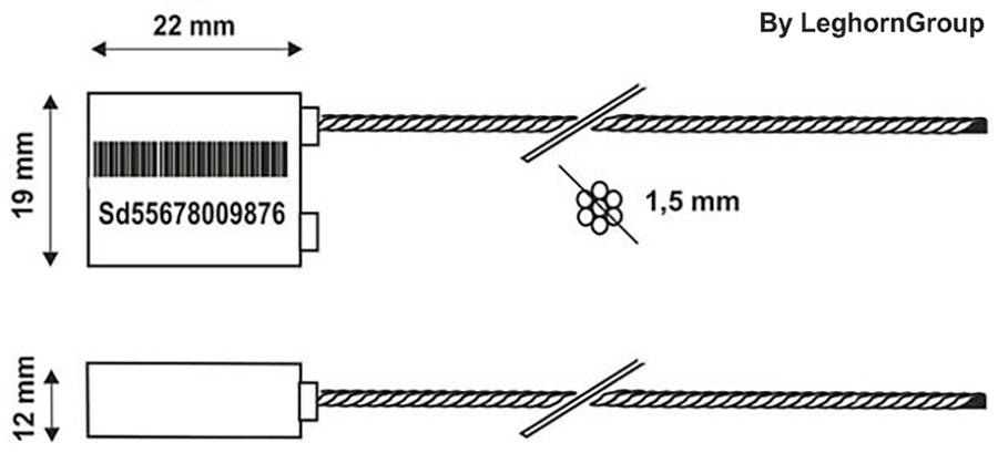 sigilli cavo per camion borea seal disegno tecnico