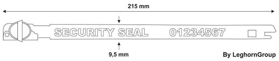 sigilli fascetta metallo balloon seal disegno tecnico