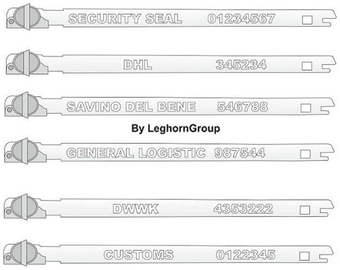 sigilli fascetta metallo balloon seal personalizzazioni