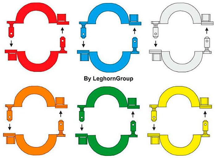 sigilli filo per contatori gas connectionlock colori