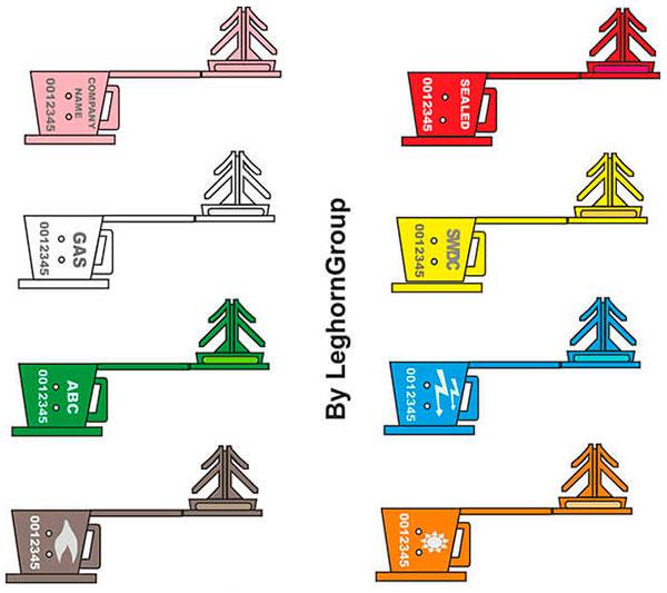 sigilli filo plastica anchorclick colori personalizzazioni