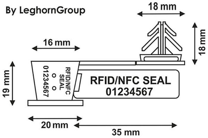 sigilli filo rfid uhf anchorflag disegno tecnico