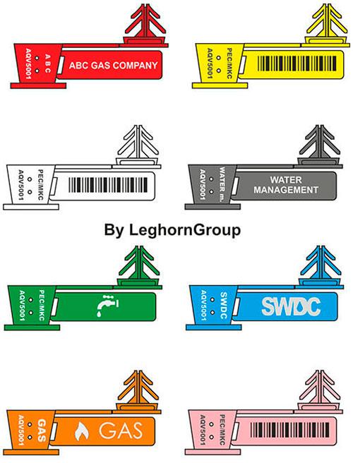 sigilli filo trasparente anchorflag colori personalizzazioni