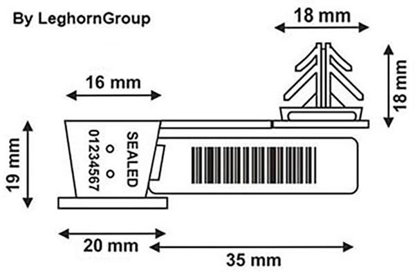 sigilli filo trasparente anchorflag disegno tecnico