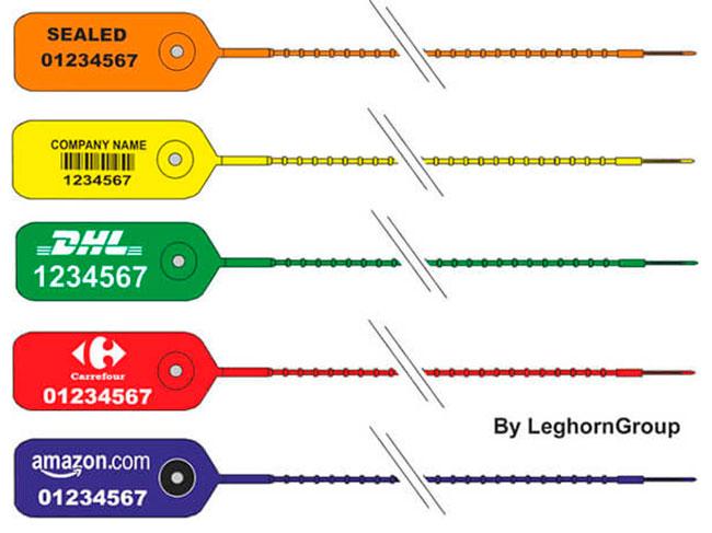 sigilli in plastica regolabili adjust seal colori personalizzazioni