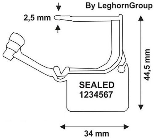sigilli lucchetto plastica calaide seal disegno tecnico