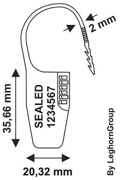 sigilli lucchetto plastica ocypite seal disegno tecnico