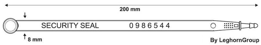 sigilli lunghezza fissa car seal ww003 disegno tecnico