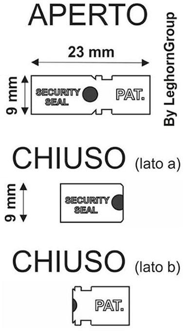 sigilli metallici autobloccanti auto seal disegno tecnico