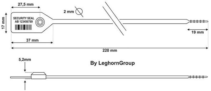 sigilli di plastica bloccaggio metallo icarus disegno tecnico