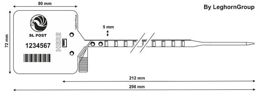 sigilli plastica heraklis 5×298 mm disegno tecnico
