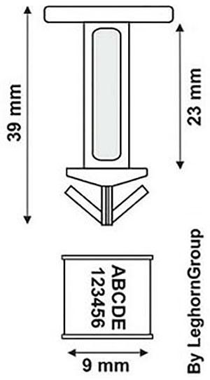 sigilli plastica per bidoni drum seal disegno tecnico