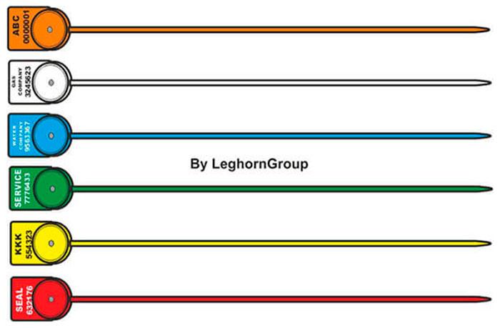 sigilli polipropilene per contatori alcyone seal colori personalizzazioni