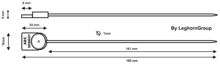 sigilli polipropilene per contatori alcyone seal disegno tecnico