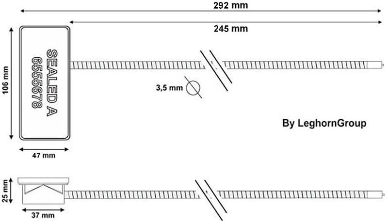 sigilli rfid per roll container disegno tecnico
