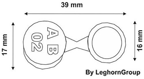 sigilli sicurezza metallo crius seal disegno tecnico