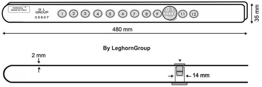 sigillo barra fork seal m e disegno tecnico