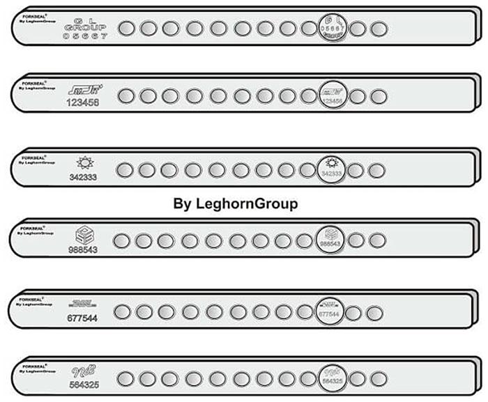 sigillo barra fork seal m e personalizzazioni