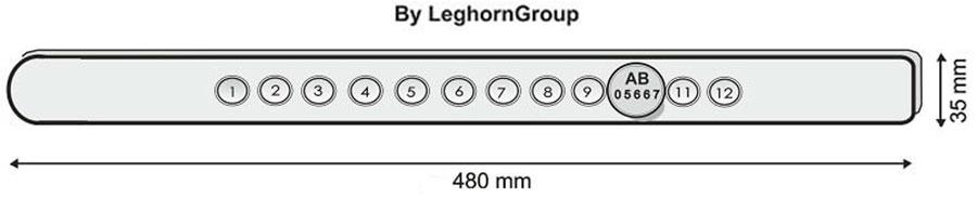 sigillo barra per container blockbar disegno tecnico