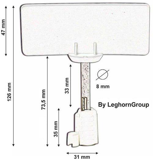 sigillo chiodo rfid container iso neptune seal disegno tecnico