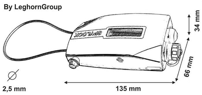 sigillo elettronico spylock disegno tecnico